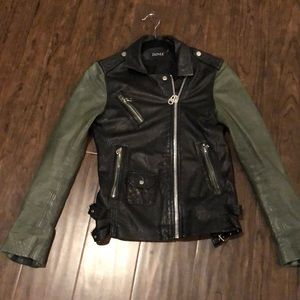 Doma two tone leather jacket size S